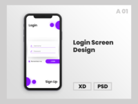 Login Screen Mockups Design