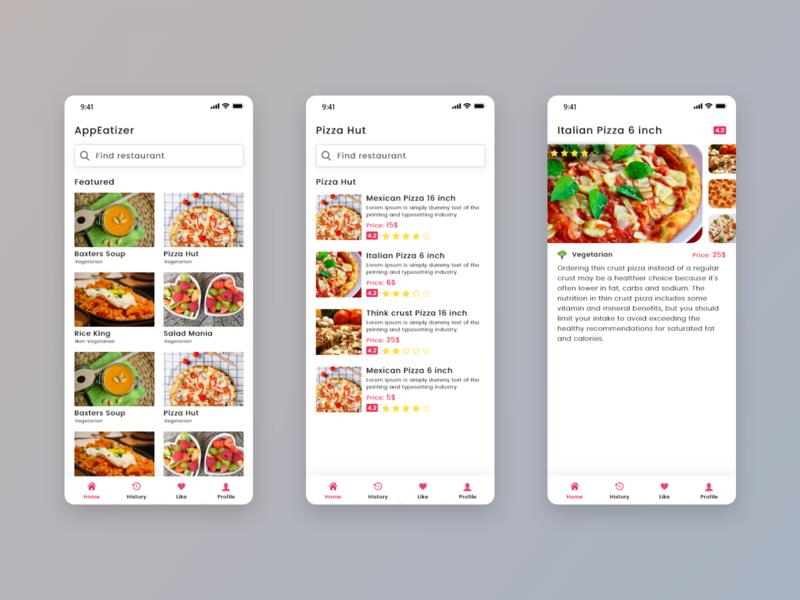 Food App mobile app ux  ui indian mockup design clean app design flat  design app design user experience design user interface design food app ui food app ui design ui design