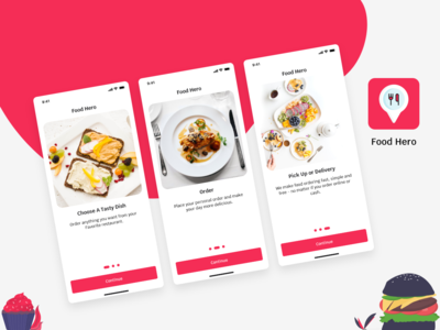 Food App Onboarding screen