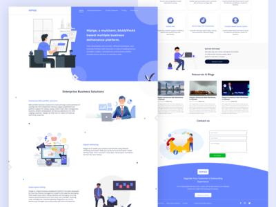 Nipige Landing Page Design