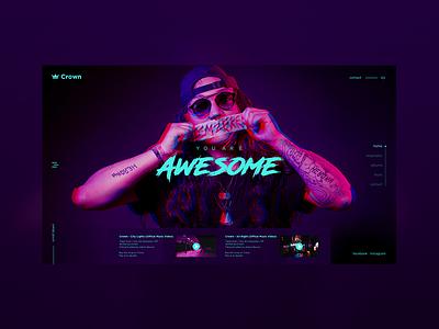 #Crown page landing web art concept homepage ui ux design webdeisgn