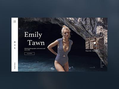 Emily Tawn page landing web art concept homepage ui ux design webdeisgn