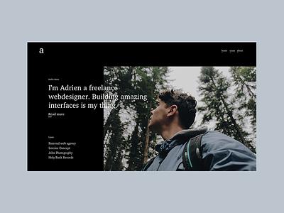 Inspiring portoflio homepage illustration interface design ui  ux design parallax art landing page design webdesign