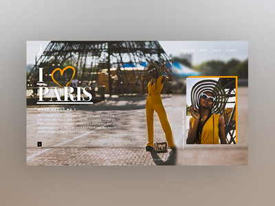 #ILOVEPARIS interface design page design webdeisgn landing concept homepage