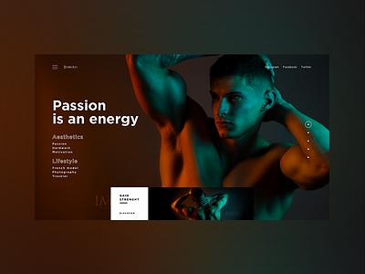 French  Model - Dim homepage design ui ux web concept art webdeisgn