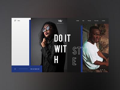 WW Agency interface design ux ui web landing homepage webdeisgn