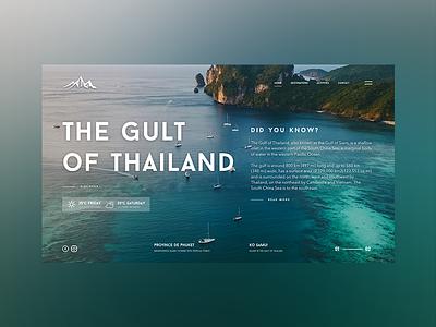 The Gult of Thailand web interface design design art ui ux webdeisgn