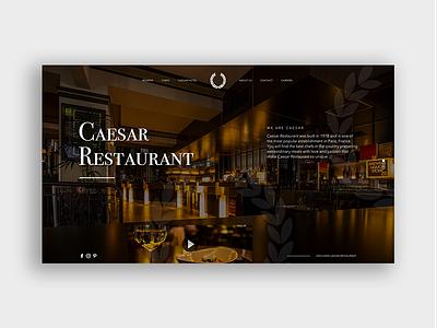 Caesar Restaurant landing page design design ui illustration interface design web art webdeisgn homepage