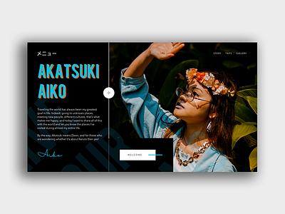 Akatsuki Aiko uidesigner uidesigns ui art web design interface design concept webdeisgn