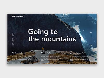 Mountains - Sweet break ux illustration ui interface design art design webdeisgn