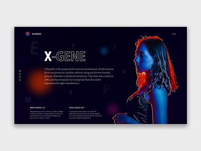 X-GENE x-men art web concept illustration design ui interface design webdeisgn