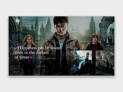 Harry Potter homepage art ui design web concept ux interface design webdeisgn