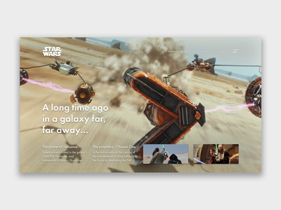 Star Wars - Episode I web ux starwarsday starwars illustration art design interface design ui webdeisgn