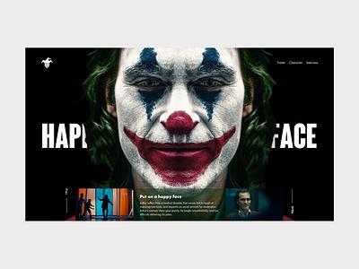 #Joker | Why so serious? homepage movie joker landing page design design art ui interface design webdeisgn