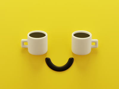 Coffee coffee illustration b3d blender3d 3d art 3d blender