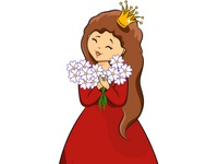 Cute princess. Vector illustration.