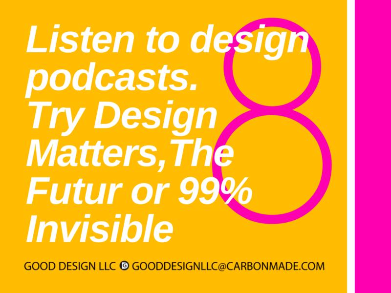 Designer Tips for Isolation / Good Design 9