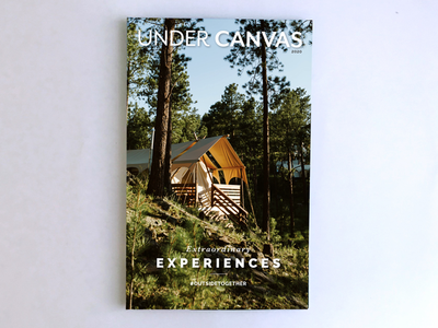Design and Art Direction luxury glampping camping book design magazine design graphic design art direction cover design