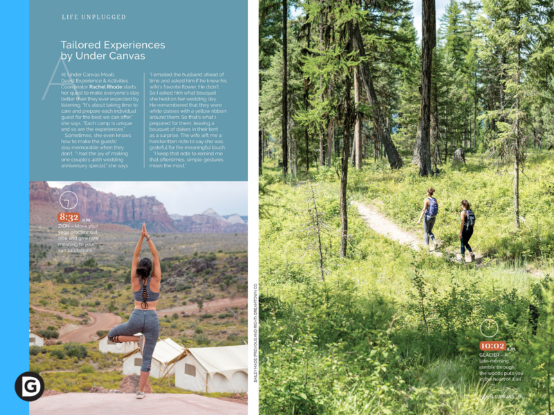 Feature Design and Layout (2) magazine layout creative camping glamping outside design magazine editorial design creative direction good design llc consulting art direction graphic design creative design