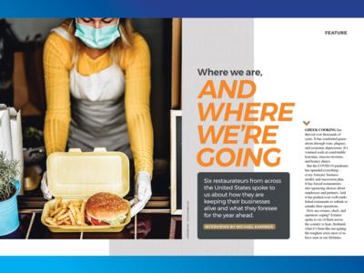 Cover Feature Opener creative consulting food industry covid-19 feature design cover design editorial design design creative