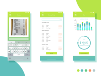 Expense tracking app chart design