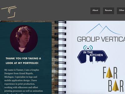 Web Portfolio Landing Page