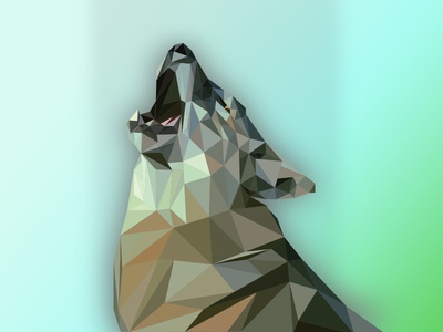 Finished Low Poly Wolf