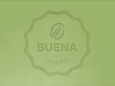BUENA COFFEE HOUSE logo green bean coffee buena coffee house cafe