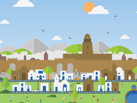 We Love Kairouan - Flat Design City