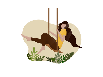 Lady on the swing