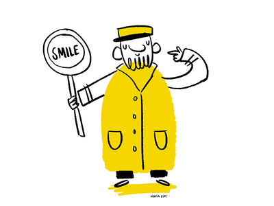 Lollipop man 100dayproject yellow smile character illustration