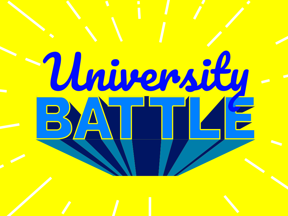 University Battle Lettering Symbol website minimal branding logo design illustration typography lettering type flat