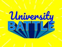 University Battle Lettering Symbol