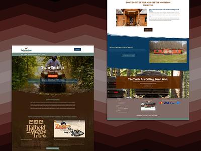 Twin Springs ATV Park Website wordpress photography branding website designer web website website design
