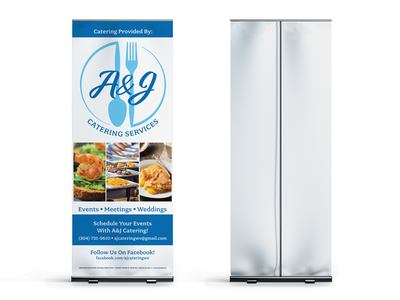 A&J Catering Services - Retractable Banner Design logo adobe indesign adobe retractable banner print design print design banner indesign illustration graphic design branding