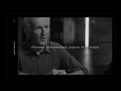 James Cameron Concept ui design clean modern interactive webdesign james cameron web website