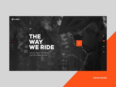 CUBE BIKES modern clean ride interfaces web design interactive web bike website website bikes cube