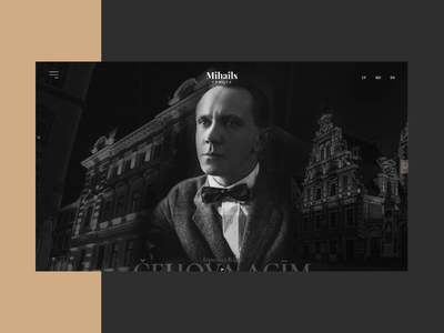 Michael Chekhov vintage classic latvia riga interactive web design web interfaces webdesign web website