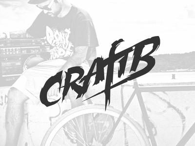 CraftB dj logo dj logo design typography lettering typo logo