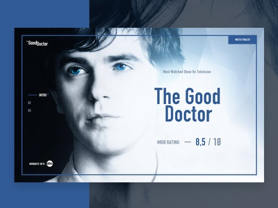The Good Doctor the good doctor website movie web entertain cinema movies web interfaces website design web concept abc concept website