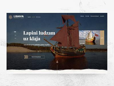 LIBAVA sea yacht libava web interfaces web design grunge website