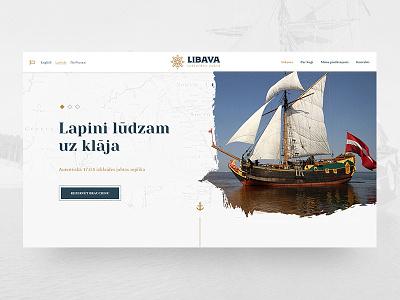 LIBAVA website grunge web design web interfaces libava yacht sea