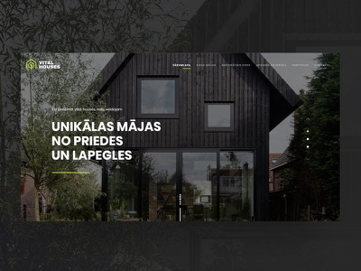 Vital Houses architecture logo logo design web design architecture website architecture website web interfaces