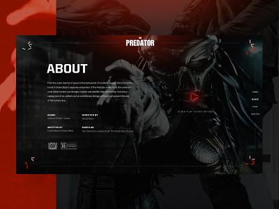 PREDATOR Website Concept predator website predator web interfaces website web webdesign