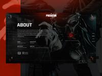 PREDATOR Website Concept