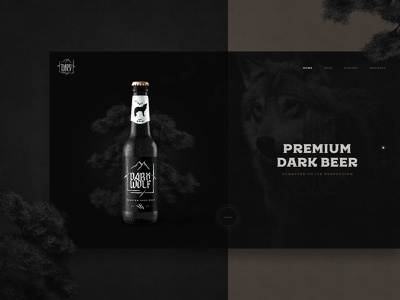 DARK WOLF beer website branding brewery beer dark wolf kristaps reinfelds interactive modern clean web design web interfaces website web webdesign
