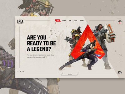 Apex Legends Website Concept concept game website apex legends modern web interfaces interactive web design website web webdesign
