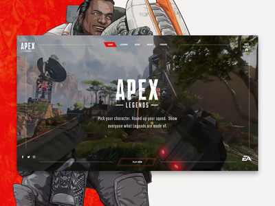 Apex Legends Website Concept gaming game website ea apex legends clean interactive modern web design web interfaces website web