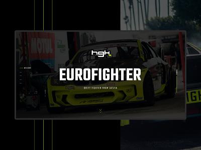 HGK EUROFIGHTER automotive car web car website drift web drift website eurofighter hgk kristaps design clean web website webdesign web design web interfaces