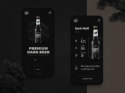 DARK WOLF brewery dark beer dark wolf beer packaging packaging beer design beer application beer app application design application mobile app app app design